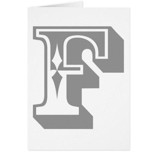 """""""F"""" está para el FALL - camiseta de la letra del a Felicitaciones"""