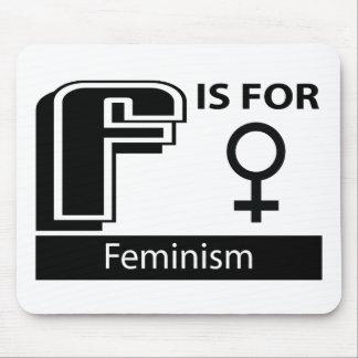 F está para el feminismo alfombrilla de ratón