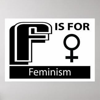 F está para el feminismo impresiones