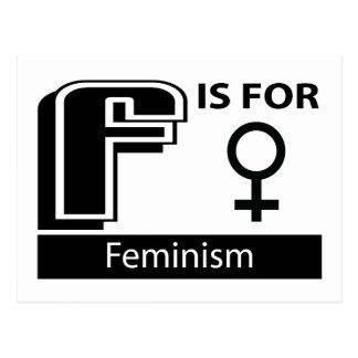 F está para el feminismo postales