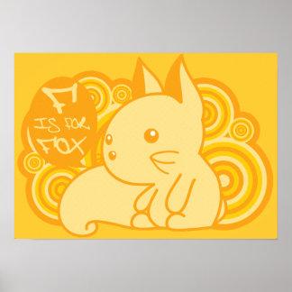 F está para el Fox Poster
