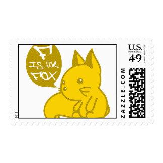 F está para el Fox Timbres Postales