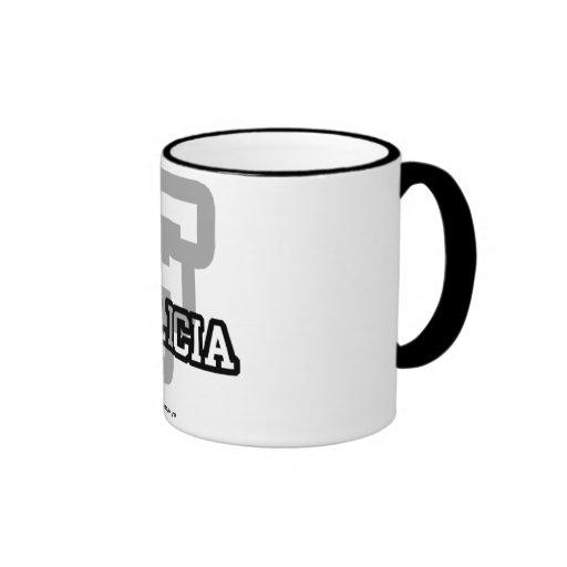F está para Felicia Taza De Café