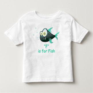 F está para la camisa del alfabeto de los pescados