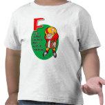 F está para la camisa del fútbol