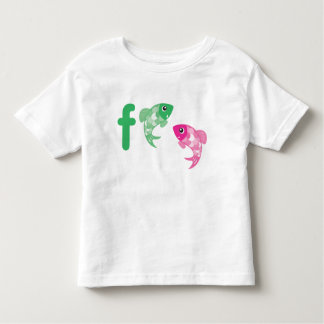 F está para la camiseta de Figaro y de Finzy Playera