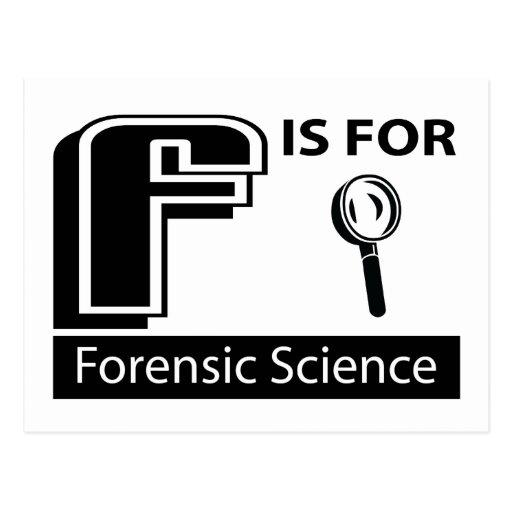 F está para la ciencia forense postal