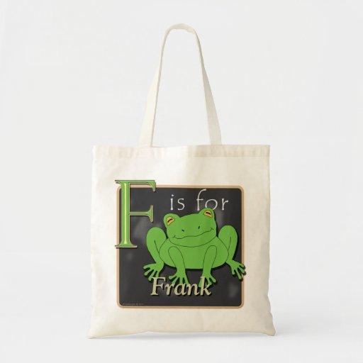 F está para la rana que F está para Frank Bolsa Tela Barata