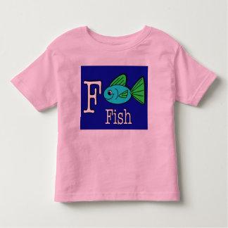F está para los pescados playera de bebé