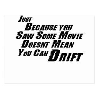 F&F Can't Drift Postcard