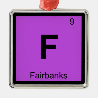 F - Fairbanks City Chemistry Periodic Table Symbol Ornaments