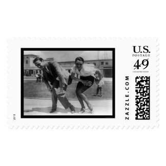 F. Farnum Teaching an Actress the Charleston 1925 Postage Stamp