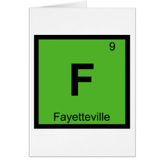 F - Fayetteville City Chemistry Periodic Table Card