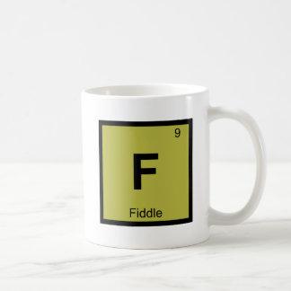 F - Fiddle Music Chemistry Periodic Table Coffee Mug