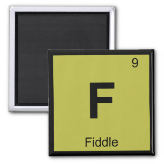F - Fiddle Music Chemistry Periodic Table Symbol Refrigerator Magnet