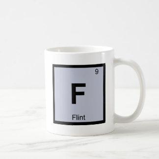 F - Flint Michigan Chemistry Periodic Table Symbol Classic White Coffee Mug
