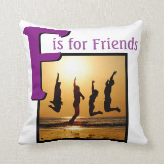 F for Friends Throw Pillow