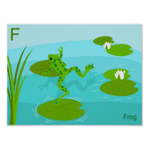 F for Frog Poster