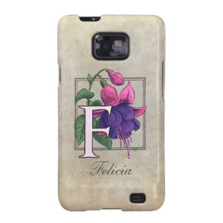 F for Fuchsia Flower Monogram Samsung Galaxy S2 Case