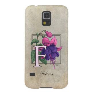 F for Fuchsia Flower Monogram Case For Galaxy S5