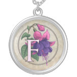 F for Fuchsia Flower Monogram Custom Jewelry