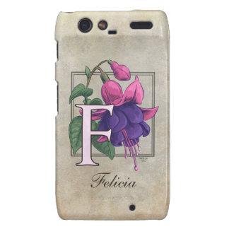 F for Fuchsia Flower Monogram Droid RAZR Cases