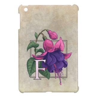 F for Fuchsia Flower Monogram iPad Mini Covers