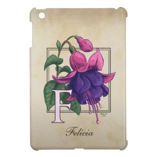 F for Fuchsia Flower Monogram iPad Mini Cover