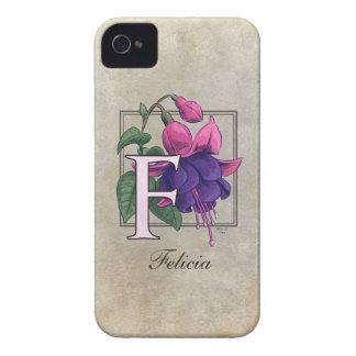 F for Fuchsia Flower Monogram iPhone 4 Cover