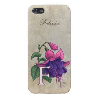 F for Fuchsia Flower Monogram iPhone 5 Cases