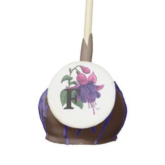 F for Fuchsia Personalized Monogram Cake Pops