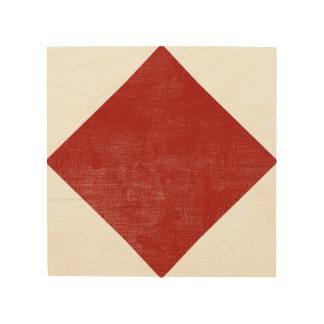 F Foxtrot Nautical Alphabet Signal Flag Wood Print