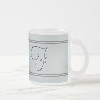 F frosted monogram mug