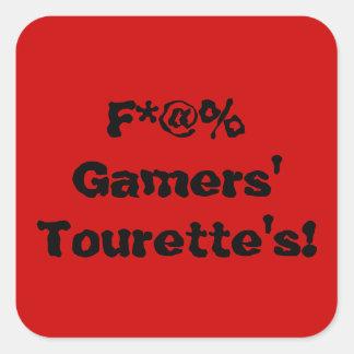 """F*@% Gamers' Tourette's!"" Sticker"