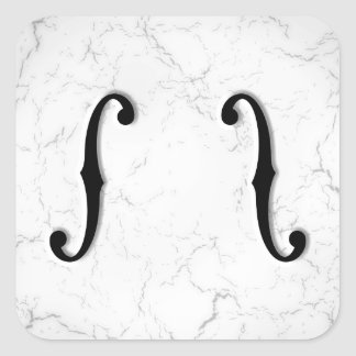 F-Holes Marble Square Sticker