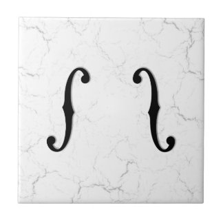 F-Holes Marble Tile