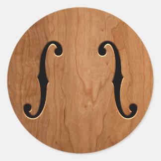 F-Holes -wg Classic Round Sticker
