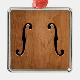 F-Holes -wg Metal Ornament