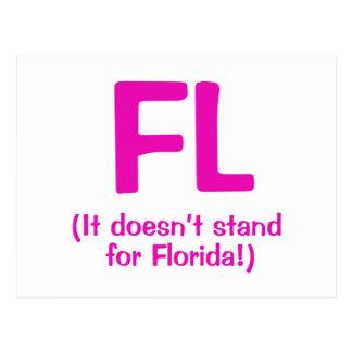 F***ing Loser - Pink Postcard