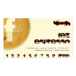 F - Initial Letter Foamy Coffee Cup Loyalty Punch Double-Sided Standard Business Cards (Pack Of 100)