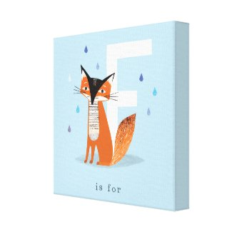 F is for... canvas print