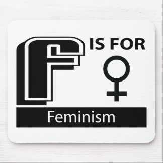 F Is For Feminism Mouse Pad