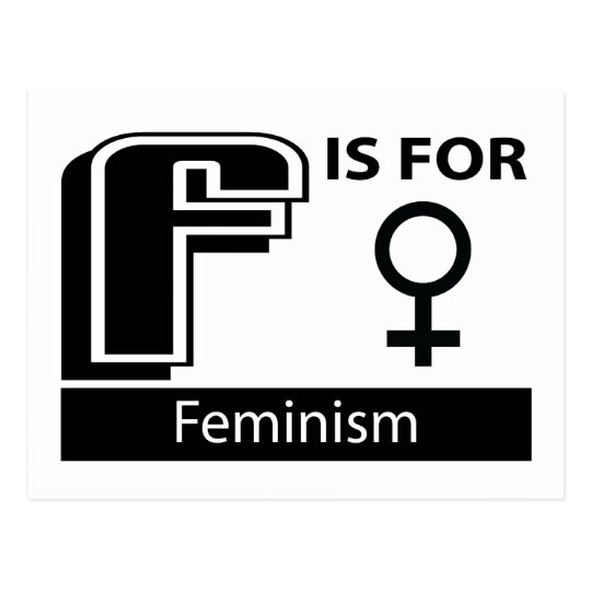 F Is For Feminism Postcard