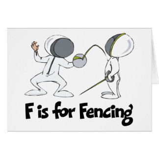 F is for Fencing Card