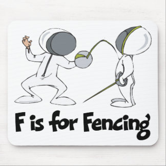 F is for Fencing Mouse Pad