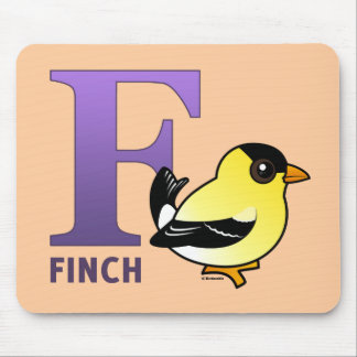 F is for Finch Mouse Pad
