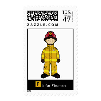 F is for Fireman Stamp
