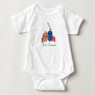 f is for fireworks Cuddle Ready Onsie Baby Bodysuit
