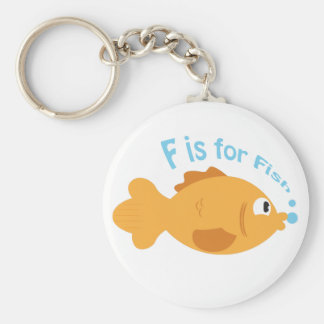 F is for Fish Key Chain