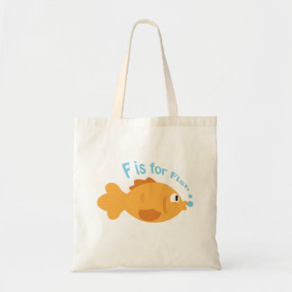 F is for Fish Tote Bags
